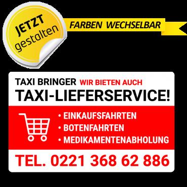 Taxi Werbeschild 50 x 30 cm...