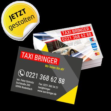 Visitenkarte Taxi - Ben