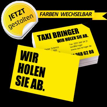 Visitenkarte Taxi - Marius