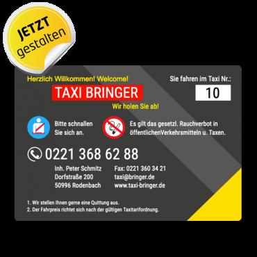 Betriebssitz-Schild Taxi - Ben