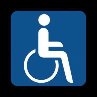 Taxi Hinweisschild Rollstuhl
