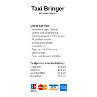 Taxi Adressaufkleber DIN A7 Vorlage Florian selber gestalten