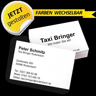 Visitenkarte Taxi - Roberto