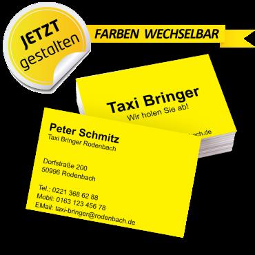Visitenkarte Taxi - Roberta