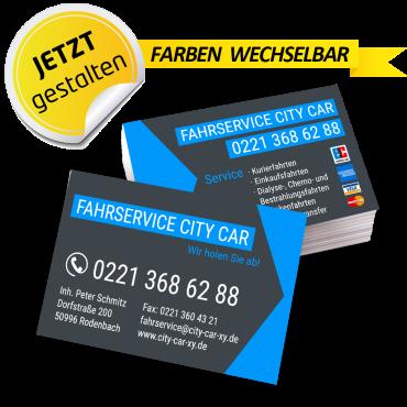 Visitenkarte Mietwagen - René
