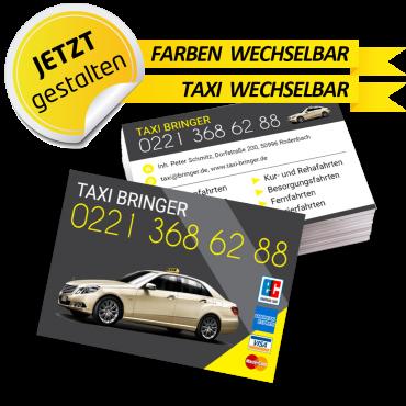 Visitenkarte Taxi - Leonardo