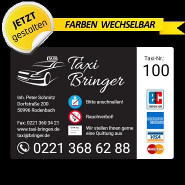 Betriebssitz-Schild Taxi - Feo