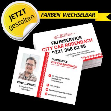 Visitenkarte Mietwagen - Fred