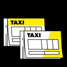 Taxi mit Durchschlag