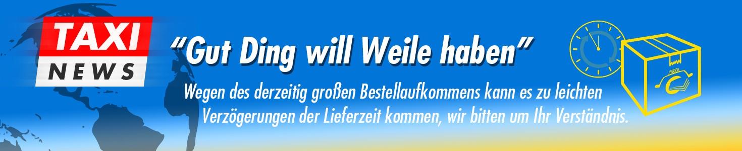Taxi News Lieferzeit